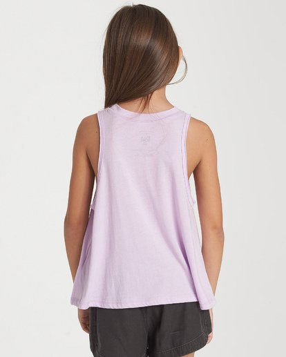 2 Girls' Here Comes Sunshine Tank Purple G426WBHE Billabong
