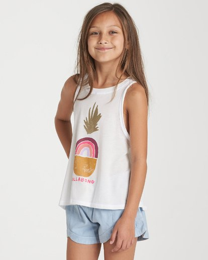 1 Girls' Rainbow Pineapple Tank Beige G426WBRA Billabong
