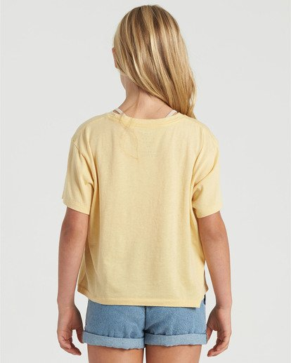 1 Girls' Poolside View T-Shirt Grey G4283BPO Billabong