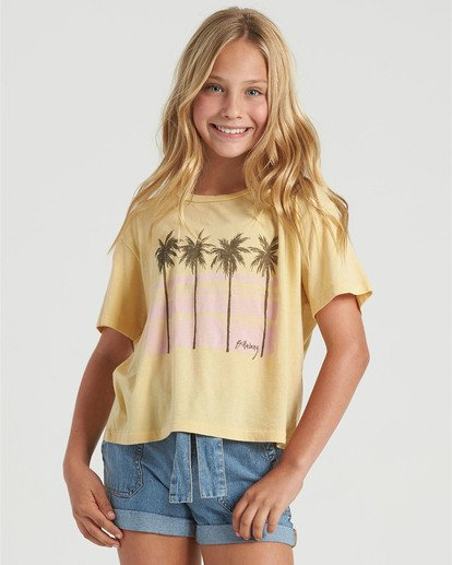 0 Girls' Poolside View T-Shirt Grey G4283BPO Billabong