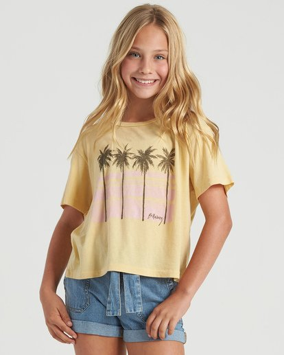 0 Girls' Poolside View T-Shirt Grey G4283BPO Billabong