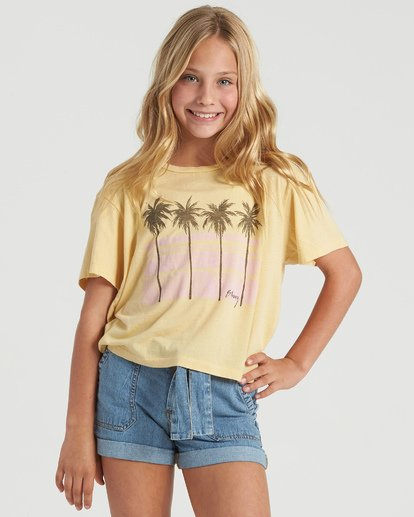 1 Girls' Poolside View T-Shirt Grey G4283BPO Billabong