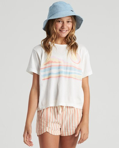 0 Girls' Seaside Draming T-Shirt White G4283BSE Billabong