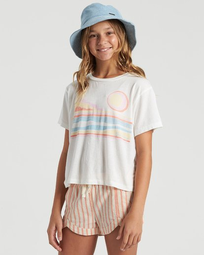 1 Girls' Seaside Draming T-Shirt White G4283BSE Billabong