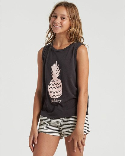 2 Girls' Sweet Pick Tank Black G4293BSW Billabong