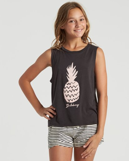 3 Girls' Sweet Pick Tank Black G4293BSW Billabong