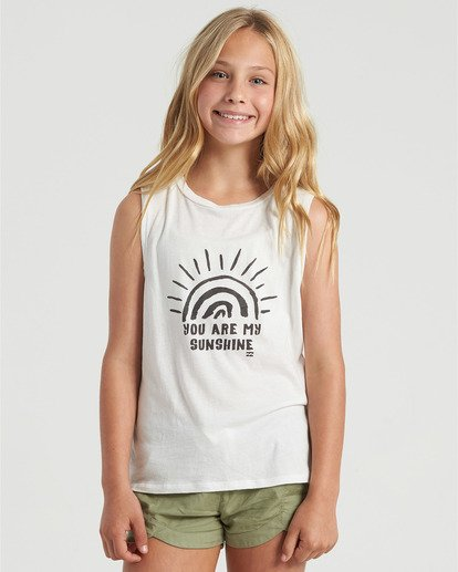 0 Girls' You Are My Sunshine Tank White G4293BYO Billabong