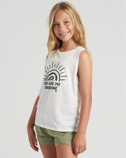 2 Girls' You Are My Sunshine Tank White G4293BYO Billabong