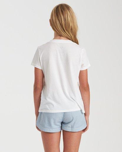 2 Girls' Hello Summer T-Shirt White G4842BHE Billabong