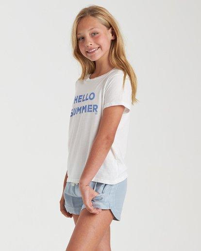 1 Girls' Hello Summer T-Shirt White G4842BHE Billabong