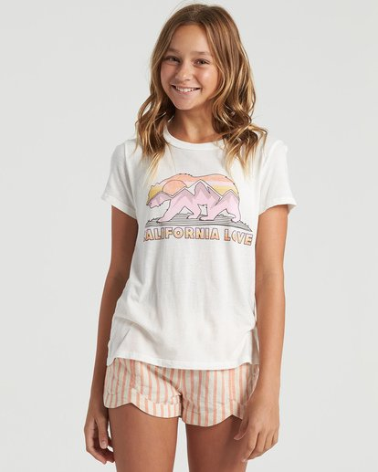 3 Girls' Cali Road Trip T-Shirt White G4843BCA Billabong