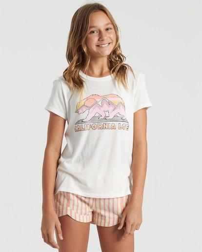 4 Girls' Cali Road Trip T-Shirt White G4843BCA Billabong