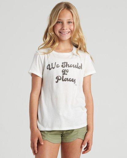 1 Girls' Lets Go Places T-Shirt White G4843BLE Billabong