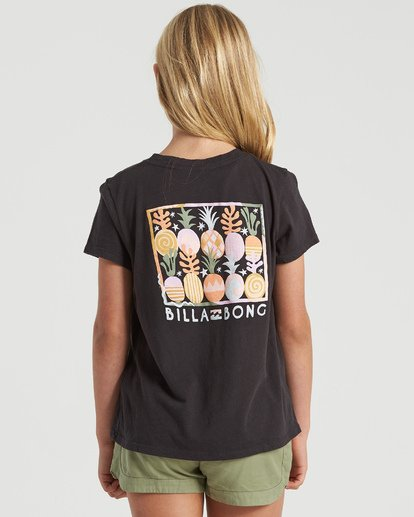 1 Girls' Modernist Pineapple T-Shirt Black G4843BMO Billabong