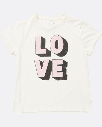 0 Girls' Love Tee White G484SBLO Billabong