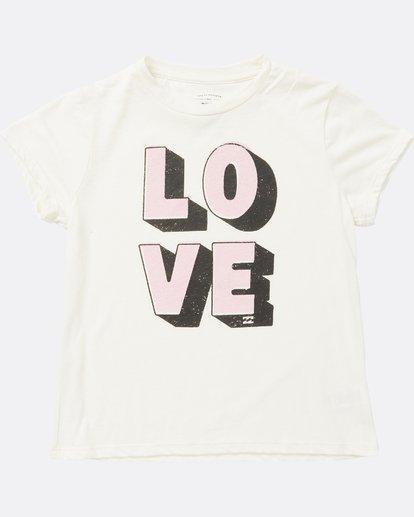 1 Girls' Love Tee White G484SBLO Billabong
