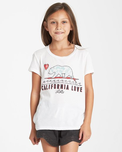 0 Girls' Cali Love T-Shirt Beige G484VBCA Billabong