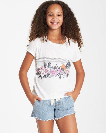 0 Girls' Field Of Vision T-Shirt Beige G484VBFI Billabong