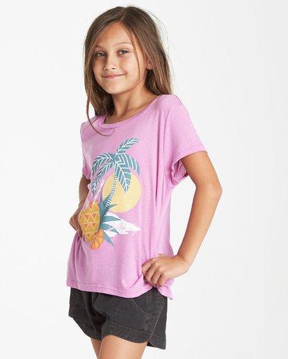 1 Girls' Pineapple Party T-Shirt Purple G484VBPI Billabong