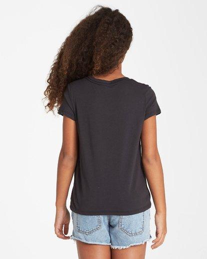 2 Girls' Rainbow Love T-Shirt Black G484VBRA Billabong