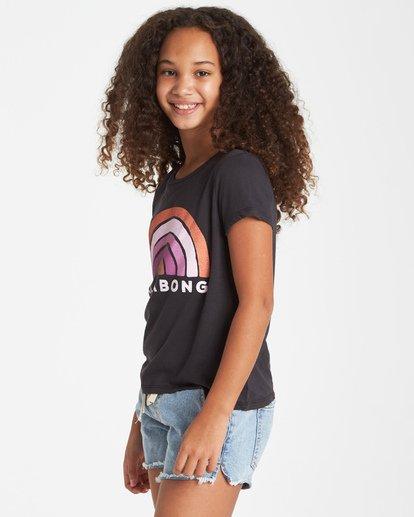 1 Girls' Rainbow Love T-Shirt Black G484VBRA Billabong
