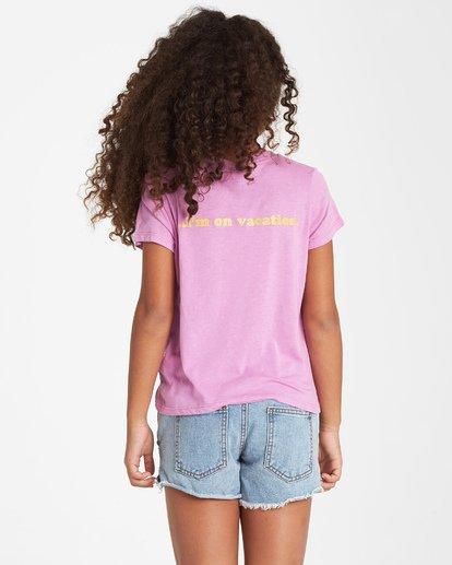 2 Girls' Vacation T-Shirt Purple G484VBVA Billabong