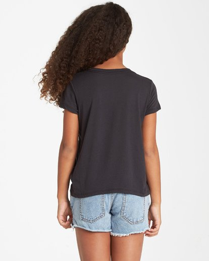 2 Girls' Where I Am T-Shirt Black G484VBWH Billabong