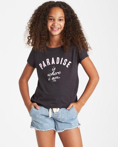 0 Girls' Where I Am T-Shirt Black G484VBWH Billabong