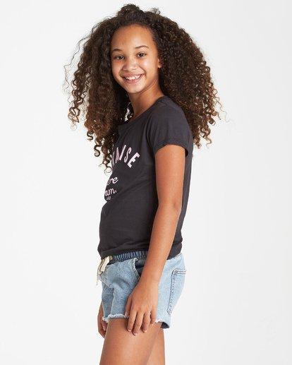 1 Girls' Where I Am T-Shirt Black G484VBWH Billabong