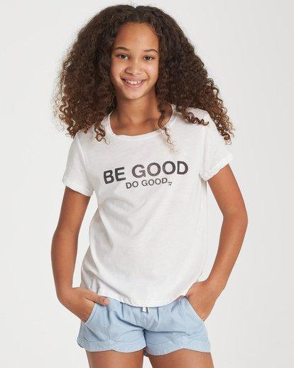 0 Girls' Be Good Do Good T-Shirt Beige G484WBBE Billabong