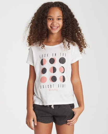 0 Girls' Bright Side Of The Moon T-Shirt Black G484WBBR Billabong