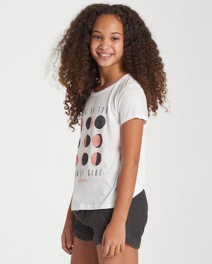 1 Girls' Bright Side Of The Moon T-Shirt Beige G484WBBR Billabong