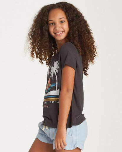 1 Girls' Sunset Vibes T-Shirt Black G484WBSU Billabong