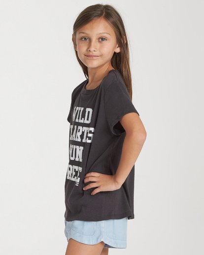 0 Girls' Wild Hearts T-Shirt Black G484WBWI Billabong