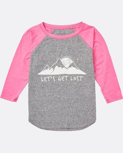 0 Girls' Get Lost Raglan Sleeve T-Shirt  G486SBGE Billabong