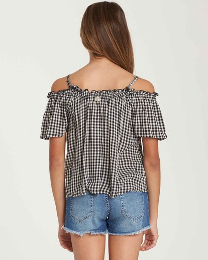 2 Girls' Summer All Year Top Black G501QBSU Billabong