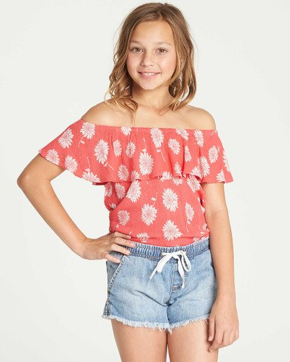 1 Girls' Puerto Dreams Top Red G501TBPU Billabong