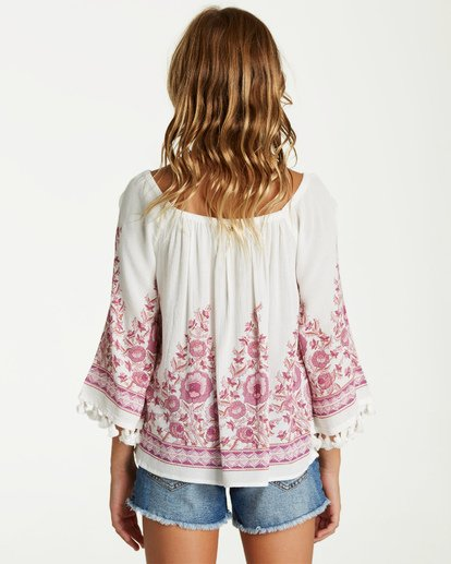 1 Girls' Desert Dreamer Top Beige G501VBDE Billabong