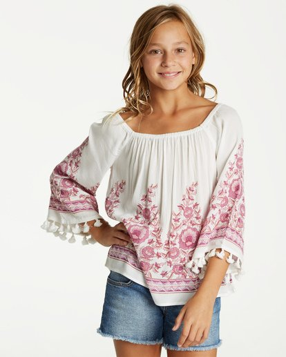 0 Girls' Desert Dreamer Top Beige G501VBDE Billabong