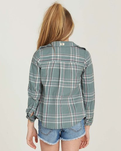 2 Girls' Cozy Up Flannel Shirt  G502MCOZ Billabong