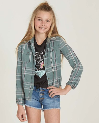 0 Girls' Cozy Up Flannel Shirt  G502MCOZ Billabong