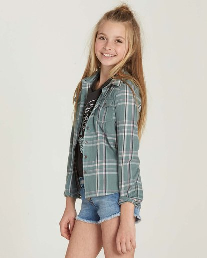 1 Girls' Cozy Up Flannel Shirt  G502MCOZ Billabong