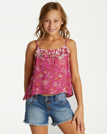 0 Girls' Double Day Top Purple G504VBDO Billabong