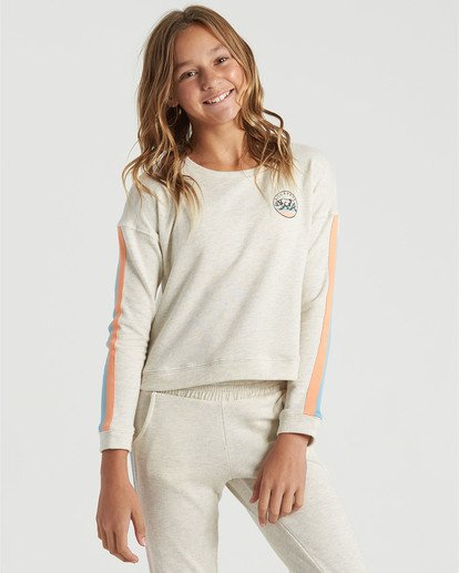 0 Girls' Cali Bear Sweatshirt Grey G6013BCA Billabong