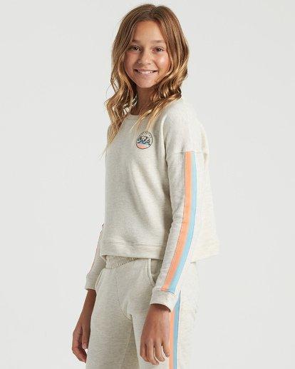 4 Girls' Cali Bear Sweatshirt Grey G6013BCA Billabong