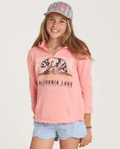 0 Girls' Days Off Pullover Hoodie Pink G601NBDA Billabong