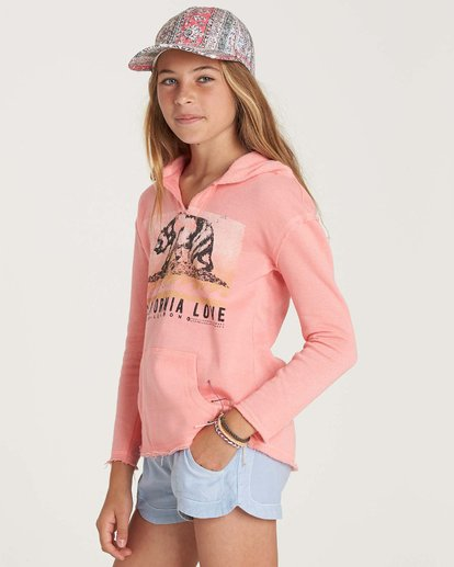 1 Girls' Days Off Pullover Hoodie Pink G601NBDA Billabong