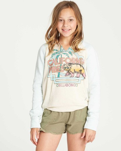 0 Girls' Days Off 2 Hooded Sweatshirt White G601TBDA Billabong