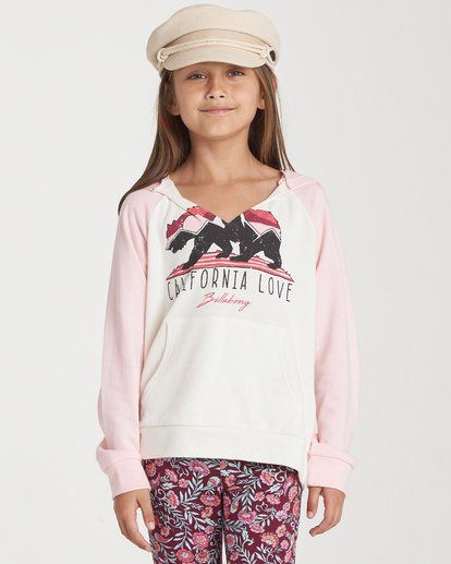 0 Girls' Days Off 2 Hooded Sweatshirt Grey G601TBDA Billabong