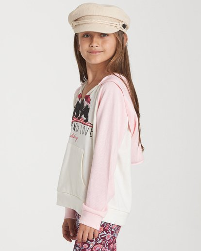 1 Girls' Days Off 2 Hooded Sweatshirt Grey G601TBDA Billabong